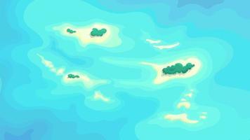 islas tropicales en medio del océano vector