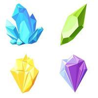 Set of realistic gemstones vector