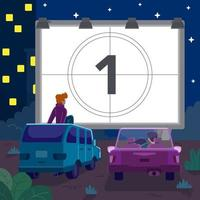 Drive In Theater Concept vector