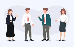 Set of Business People Characters vector