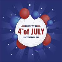 Happy 4th of July Background Concept vector