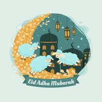 Eid Al Adha Background Concept vector