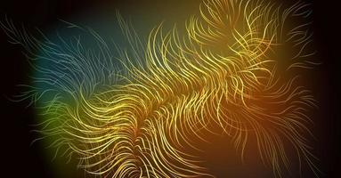 Vector background abstract image in trendy black color with multi colored luminous elements and incredible gradients of wavy lines
