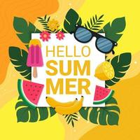 Summer Season Background vector