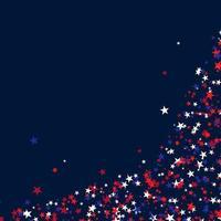 Stars for USA holidays vector