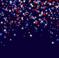 Background made of red blue and white stars vector
