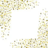 Golden stars with white square in the middle vector
