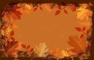 Vintage with Leaves Background Template vector