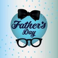 Ilustración vectorial de la tarjeta de felicitación de celebración del día del padre feliz sobre fondo creativo vector