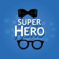 Super hero typography for happy fathers day background vector