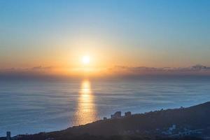 The shoreline of the city of Sochi in Russia photo