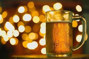 Beer with bokeh photo