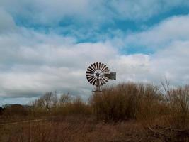 Wind pump in a nature reserve in North Yorkshire England photo