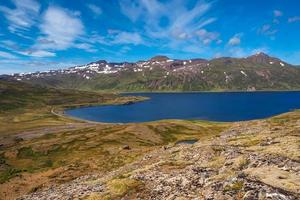 View over a fjord in the Westfjords of Iceland photo