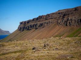 Rocky landscape in the Westfjords of Iceland photo