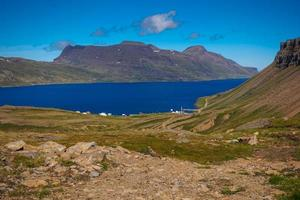 View over Djupavik in the Westfjords of Iceland photo