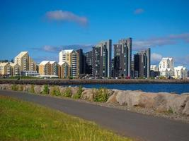 Modern buildings by the waterfront in Reykjavik Iceland photo