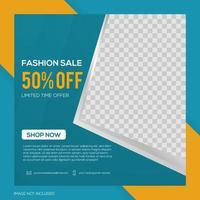 Social media banner template design vector