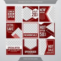 Social media post and stories template vector