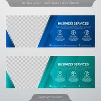 Set of business banner template vector