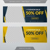 Fashion sale banners vector