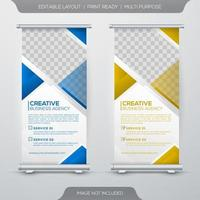 Business roll up banner template vector