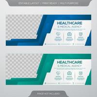 Healthcare banner template vector