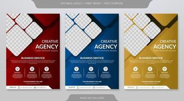 Business flyer templates vector