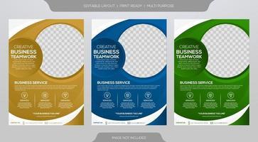 Business flyer template vector