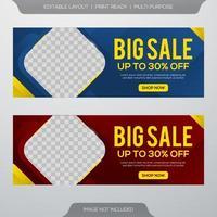 Mega sale banners vector