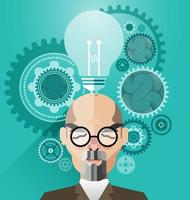 Head with Creative brain idea concept vector