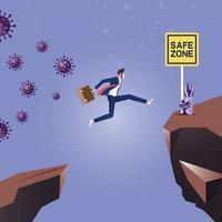 Deadly disease transmission, coronavirus outbreak prevention concept vector