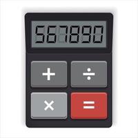Calculator digital electronic vector