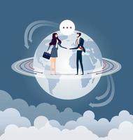 cooperación global. empresarios dándose la mano vector