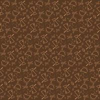 Seamless pattern with coffee utensils vector