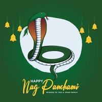 Banner design of happy nag panchami template vector