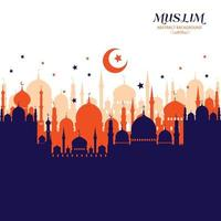 Muslim abstract greeting card. vector