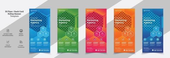 Creative Modern Corporate DL Flyer Design vector