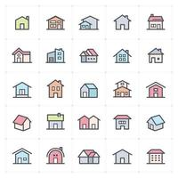 Home Line with Color Icon vector