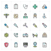 Healthcare and Medical Line with Color Icon vector