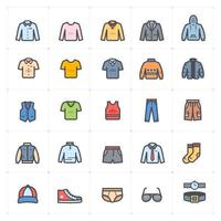 Man Clothing Line with Color Icon vector
