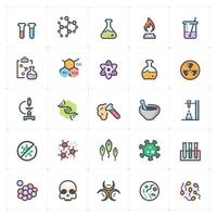 Science and Virus Line with Color icon vector