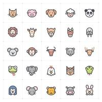 Animal Line with Color icon vector