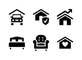 Simple Set of Real Estate Vector Solid Icons