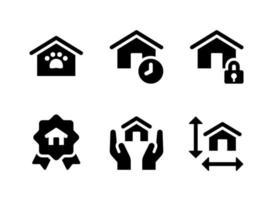 conjunto simple de iconos sólidos de vector de bienes raíces