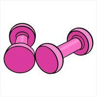 Dumbbells for fitness vector