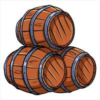Barrels for wine or beer vector