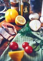 Still fish vegetables photo