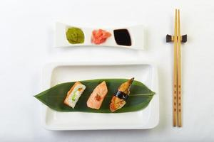 Sushi on the plate photo