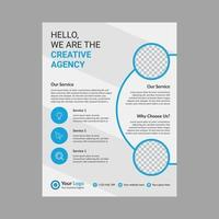 Corporate business flyer layout template vector